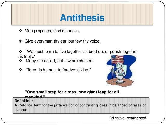 Part of speech antithesis