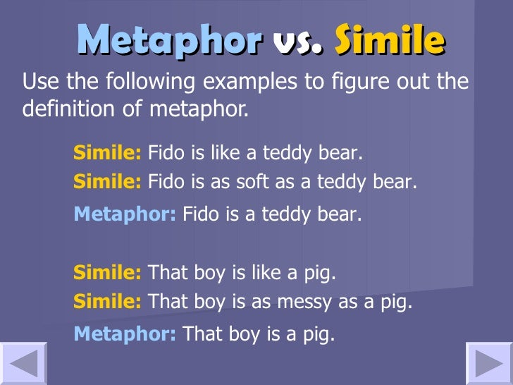 """proper usage of metaphors and similes Aristotle's pronouncement that similes differ from metaphors """"similes strictly do not involve figurative usage better enable us to attain one proper."""