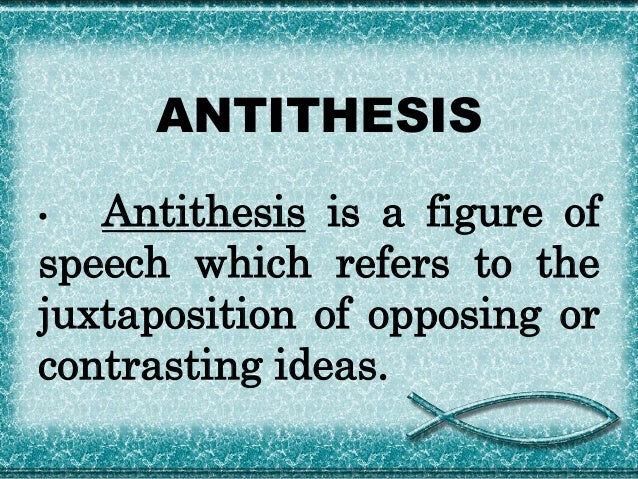 Define antithesis writing