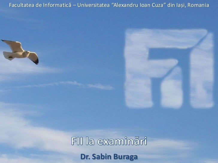 FII la examinări (anul universitar 2011/2012)