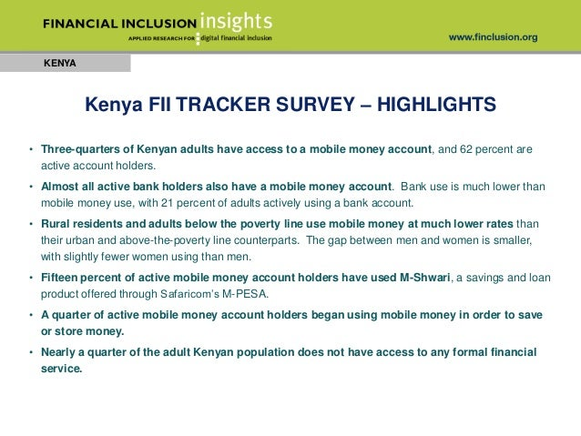 kenya fii tracker survey highlights kenya three quarters of kenyan
