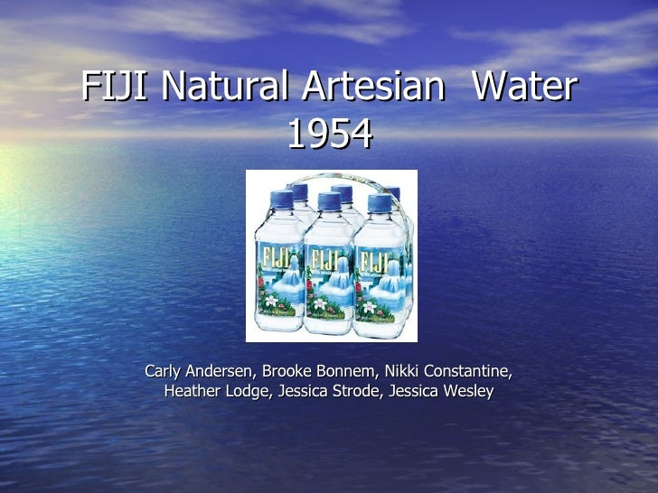 FIJI Natural Artesian  Water 1954 Carly Andersen, Brooke Bonnem, Nikki Constantine, Heather Lodge, Jessica Strode, Jessica...