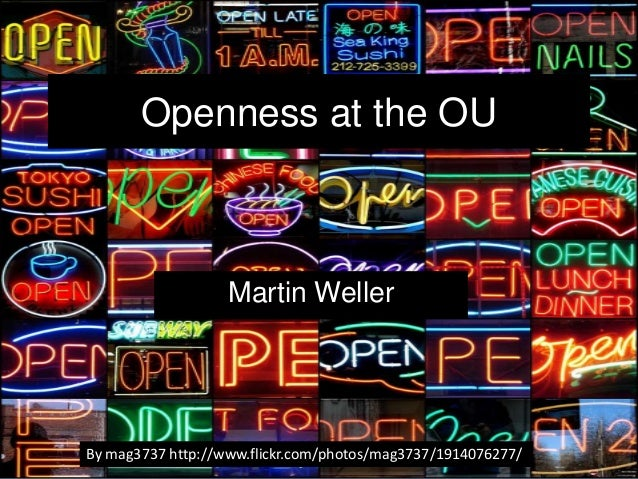 Openness at the OU