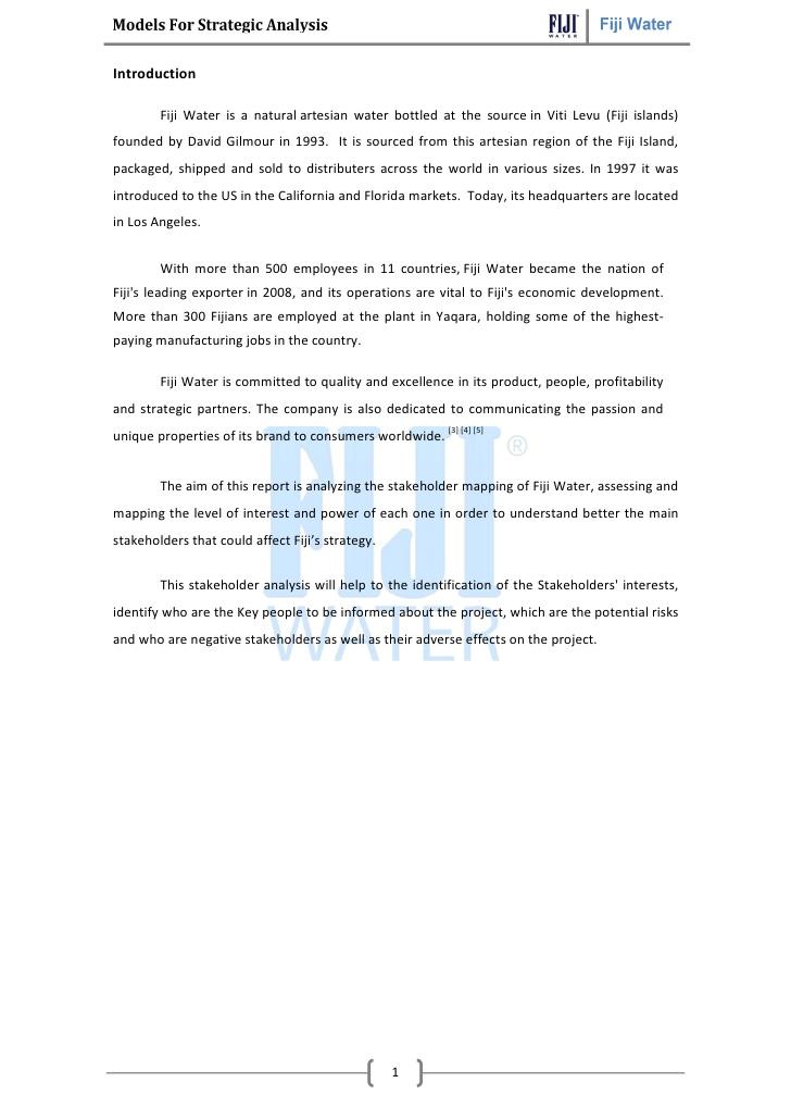 Fiji water csr case study