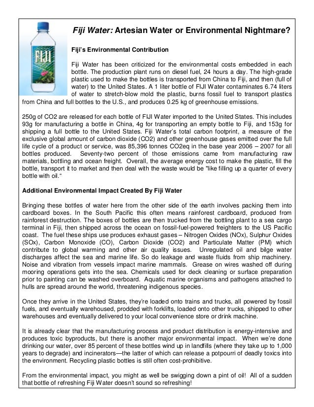 fiji water case study analysis Fiji water and corporate social responsibility - green makeover or greenwashing case solution, this case analysis traces the establishment and subsequent operation of.