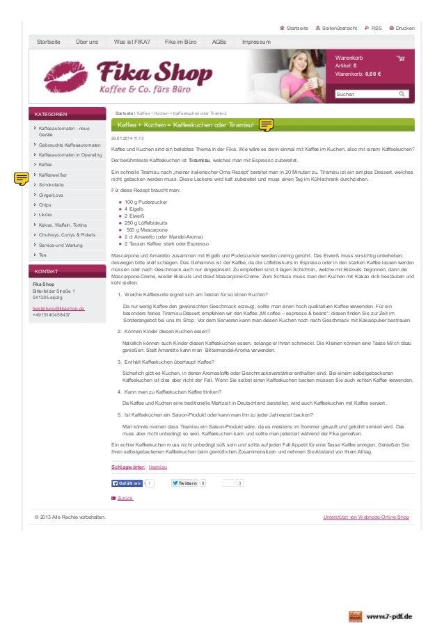 Startseite  Startseite  Über uns  Was ist FIKA?  Fika im Büro  AGBs  Seitenübersicht  RSS  Drucken  Impressum Warenkorb Ar...