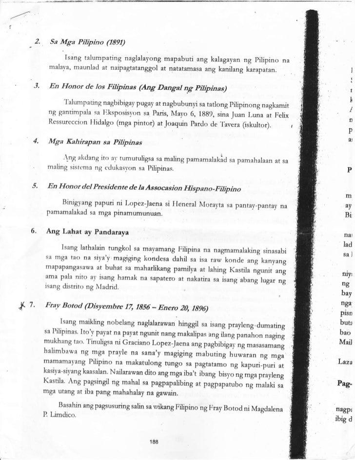 2.        Sa   Mga Pilipino Q891)                       Isang talumpating naglalayong mapabuti ang kalagayan ng pilipin na...