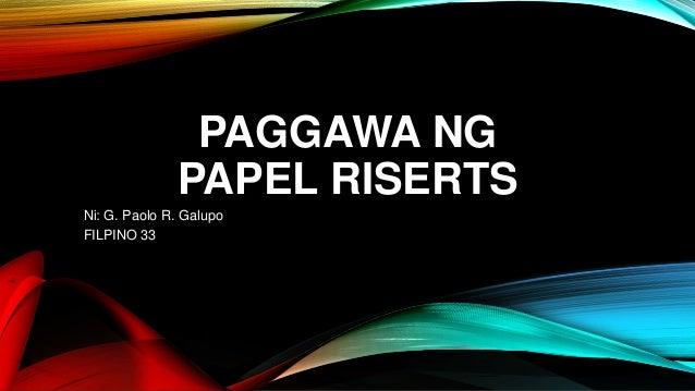 thesis sa wikang filipino