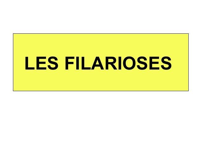 LES FILARIOSES