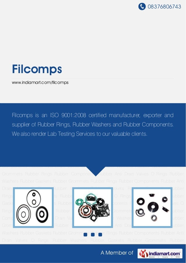 Industrial Rubber Components By Filcomps
