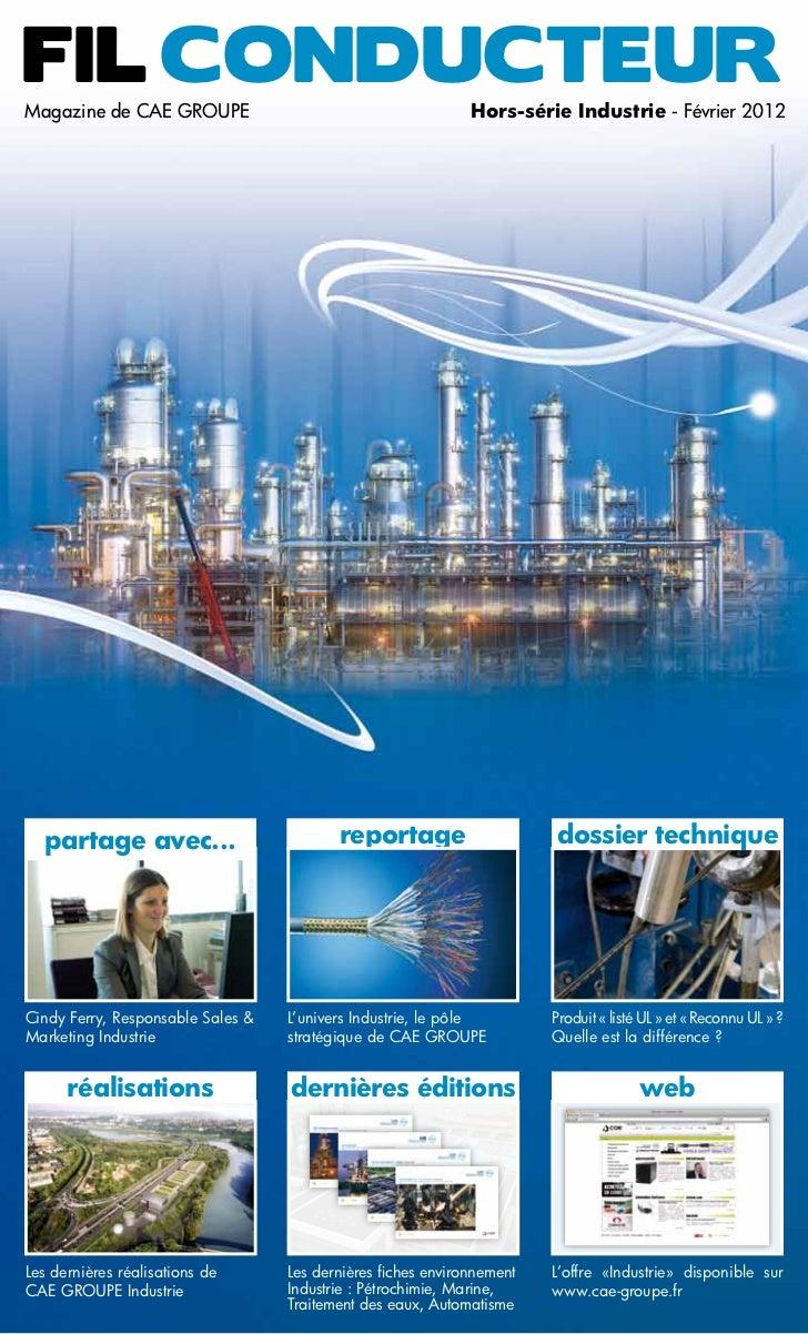 Fil ConducteurMagazine de CAE Groupe                                        Hors-série Industrie - Février 2012  partage a...