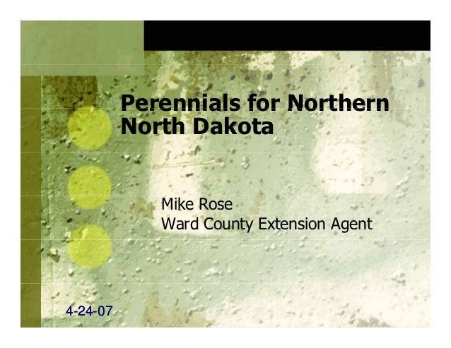 Perennials for Northern North Dakota