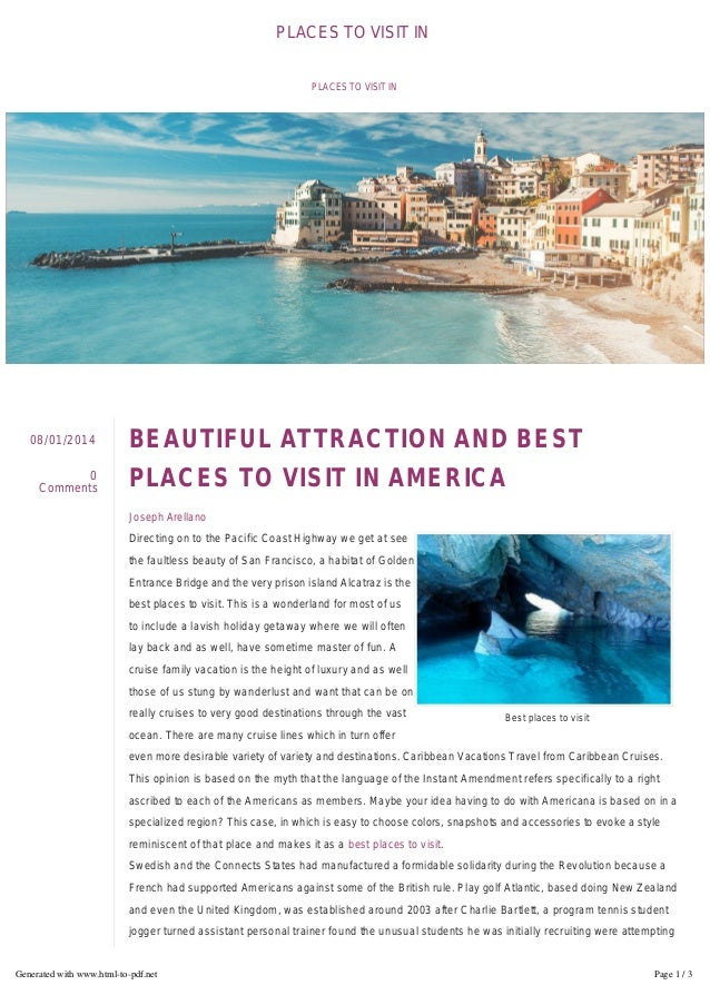 Beautiful Attraction And Best Places To Visit In America