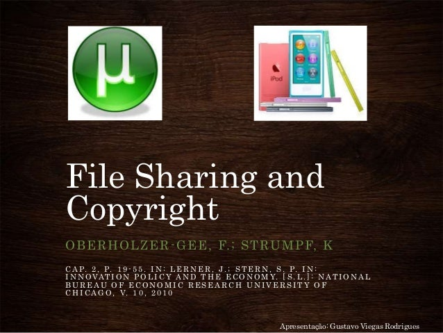 File sharing and copyright