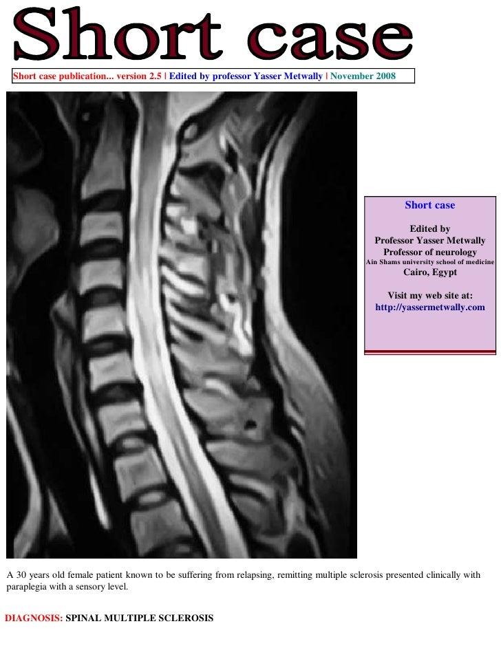 Short case publication... version 2.5 | Edited by professor Yasser Metwally | November 2008                               ...
