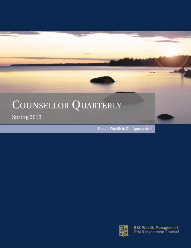COUNSELLOR QUARTERLYSpring 2013