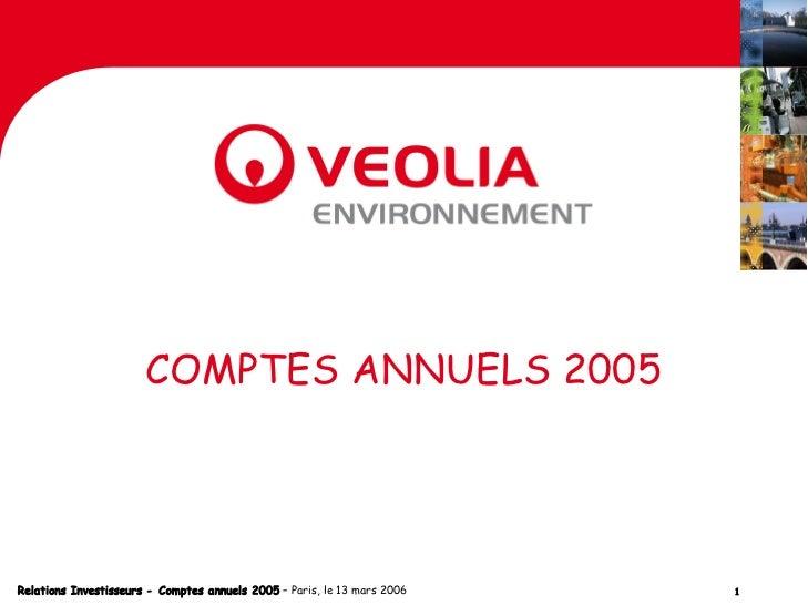 Résultats annuels 2005