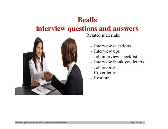 Bealls interview questions and answers