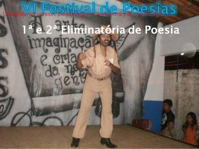 VI FESTIVAL DE POESIA