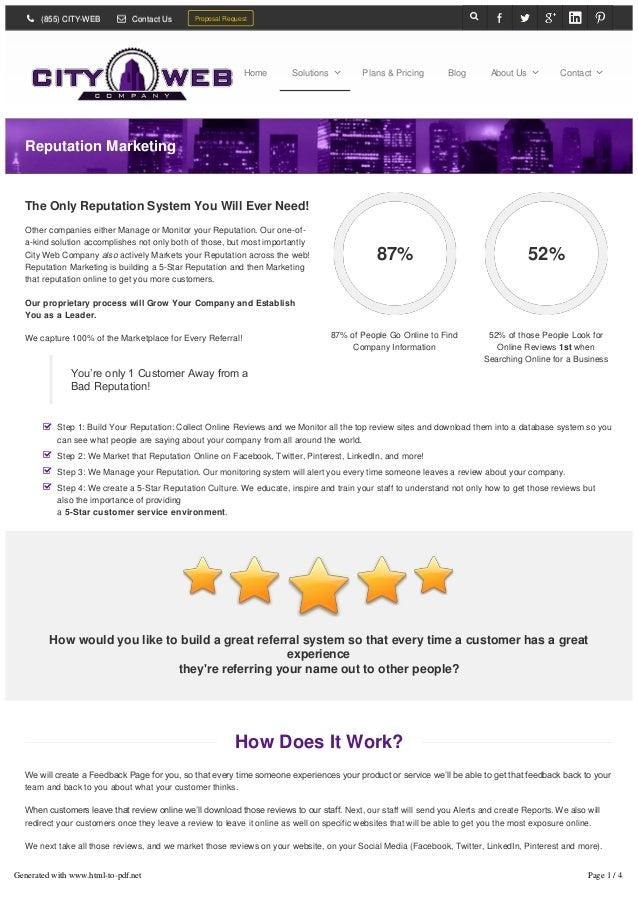 5-Star Reputation Marketing: We Build, Manage, Monitor & MarketCity Web Company