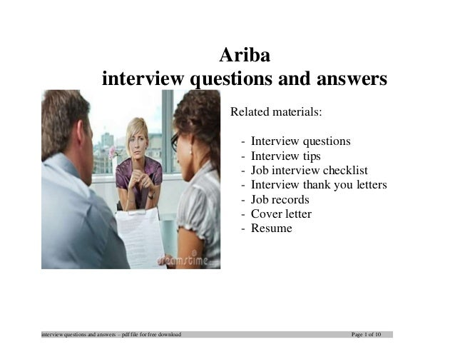 interview questions and answers – pdf file for free download Page 1 of 10 Ariba interview questions and answers Related ma...