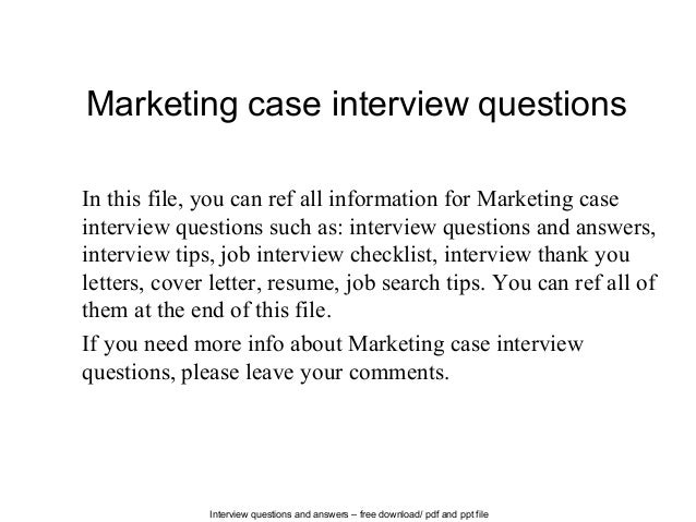 case study 1 supervisor interview These case manager interview questions tell you what to look for in candidates with a sample of great interview questions.