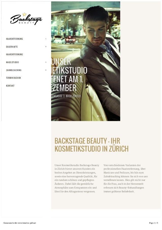 BACKSTAGE BEAUTY – IHR KOSMETIKSTUDIO IN ZÜRICH Unser Kosmetikstudio Backstage Beauty in Zürich bietet unseren Kunden ein ...