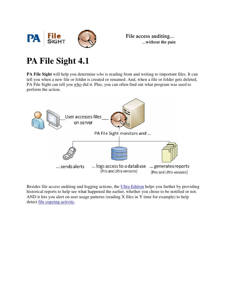 File access auditing