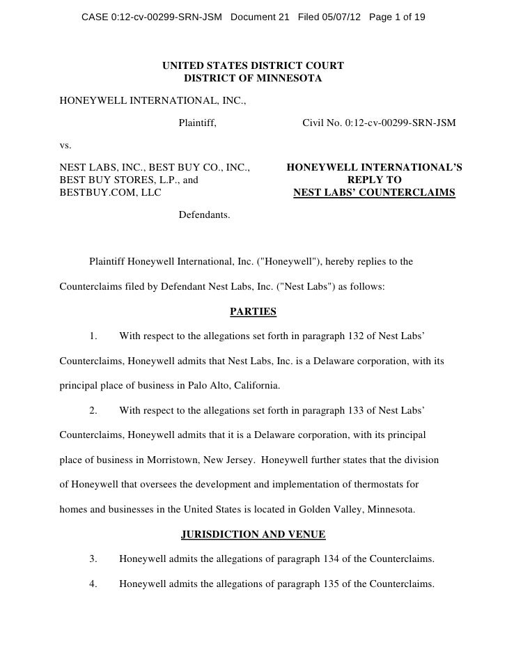 CASE 0:12-cv-00299-SRN-JSM Document 21 Filed 05/07/12 Page 1 of 19                        UNITED STATES DISTRICT COURT    ...