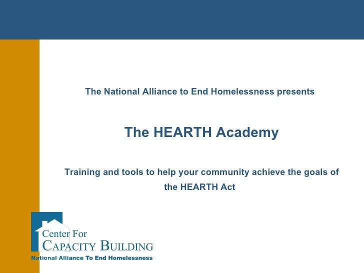 NAEH Implications of the Hearth Act