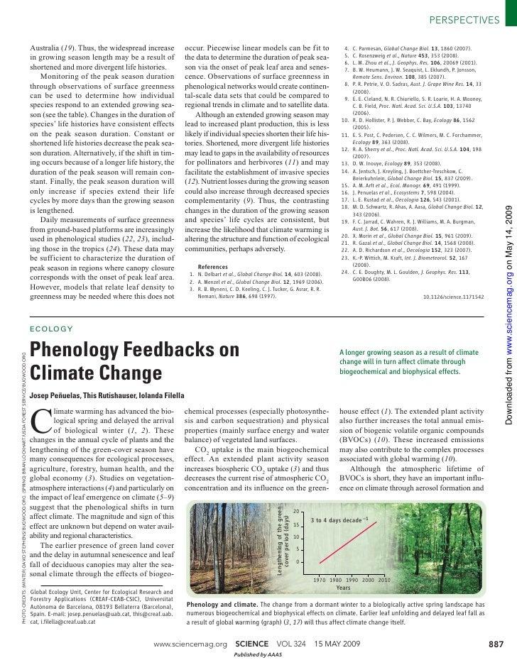 Phenology Feedbacks on CLimate Change - Iolanda Filella
