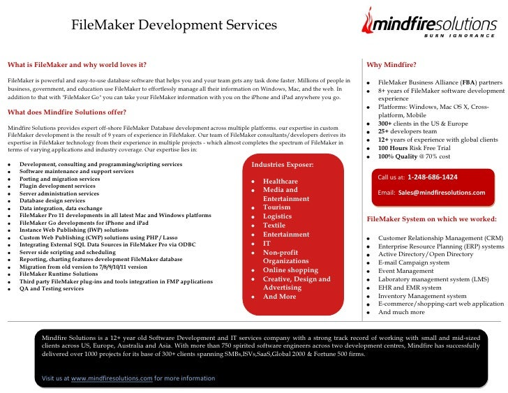 FileMaker Development ServicesWhat is FileMaker and why world loves it?                                                   ...