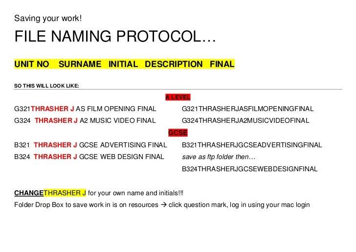 Filenamingprotocol