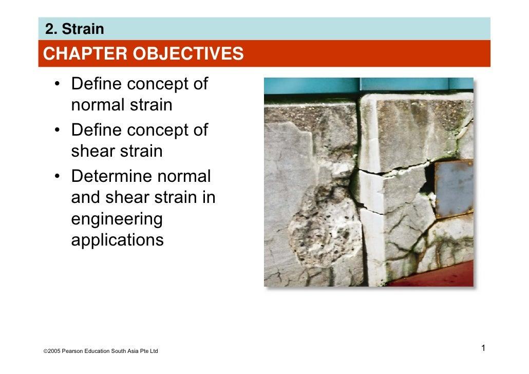 2. StrainCHAPTER OBJECTIVES   • Define concept of     normal strain   • Define concept of     shear strain   • Determine n...