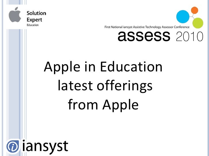 Apple in Education - Lee Evans - iansyst Ltd