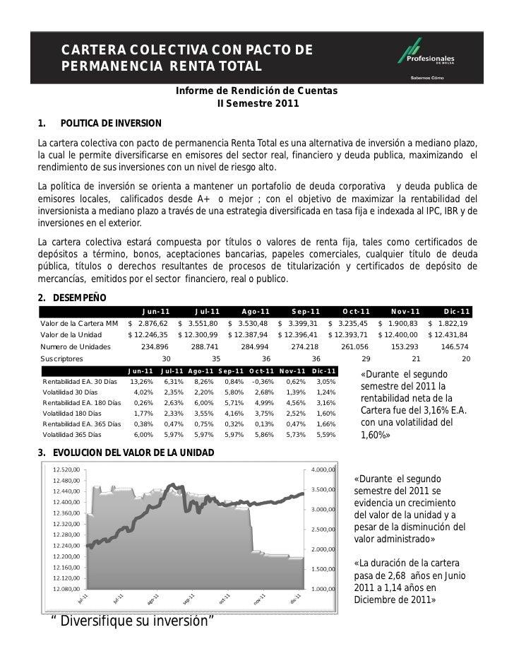 CARTERA COLECTIVA CONDE PERMANENCIA        CARTERA COLECTIVA CON PACTO        RENTA TOTAL                                 ...