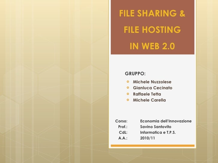 File sharing & file hosting in web 2.0