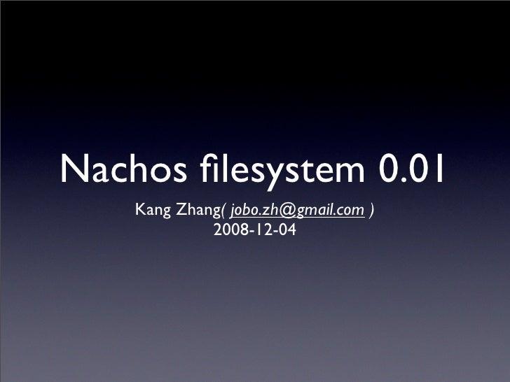 Nachos Filesystem