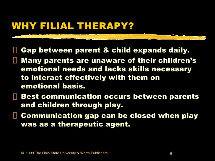 filial therapy This manual is the highly recommended companion to cprt: a 10-session filial therapy model accompanied by a cd-rom of training materials, which allows for ease of.