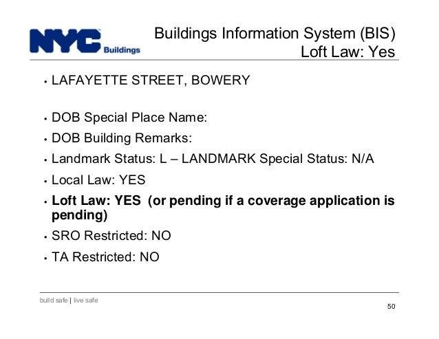 Bis New York Department Buildings
