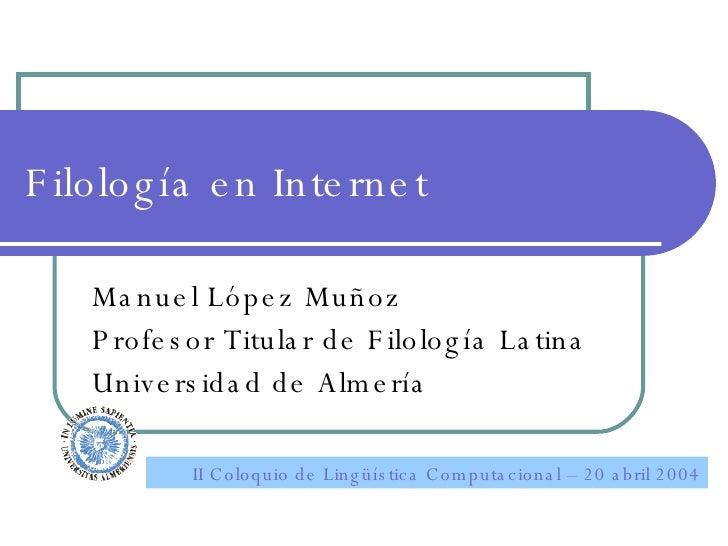Filología en Internet