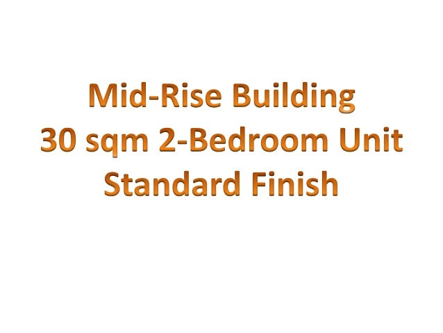 Standard Turnover Finish for Mid-Rise Buildings By Filinvest