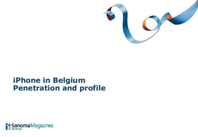 iPhone in Belgium Penetration and profile