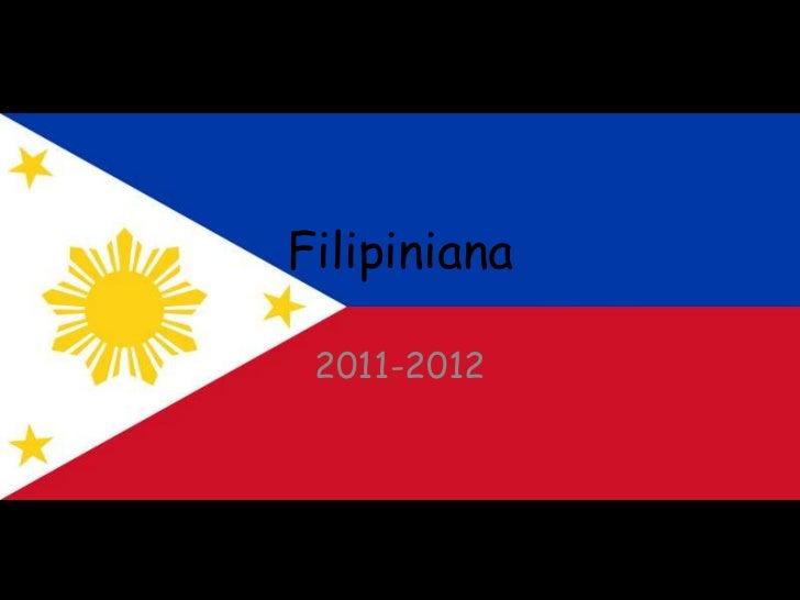 Filipiniana 2011-2012