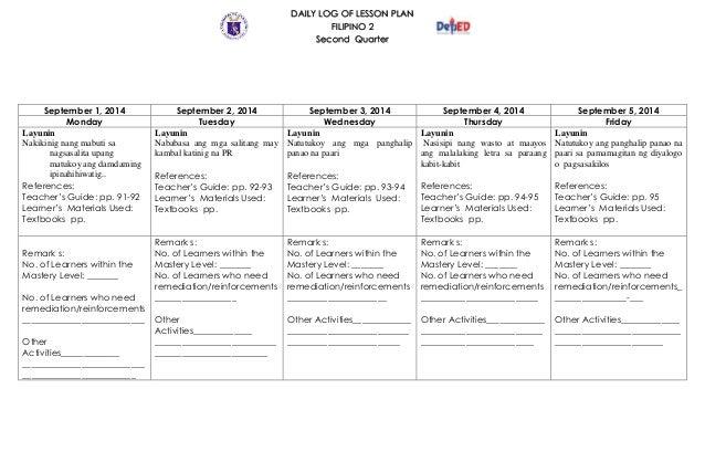 lesson plan makabayan 5