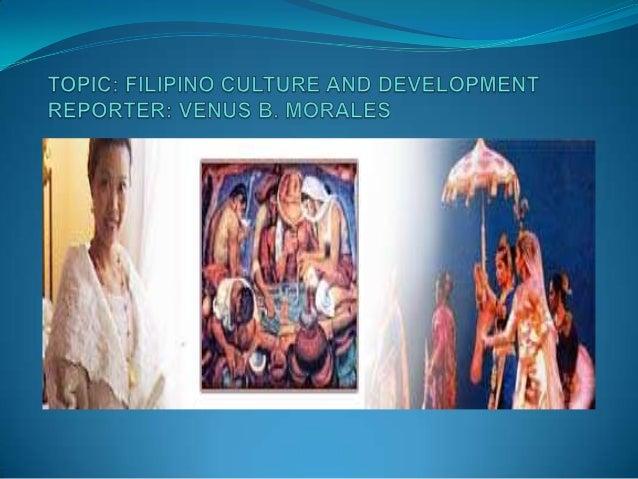 Filipino culture report