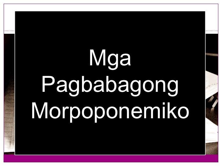 Mga PagbabagongMorpoponemiko