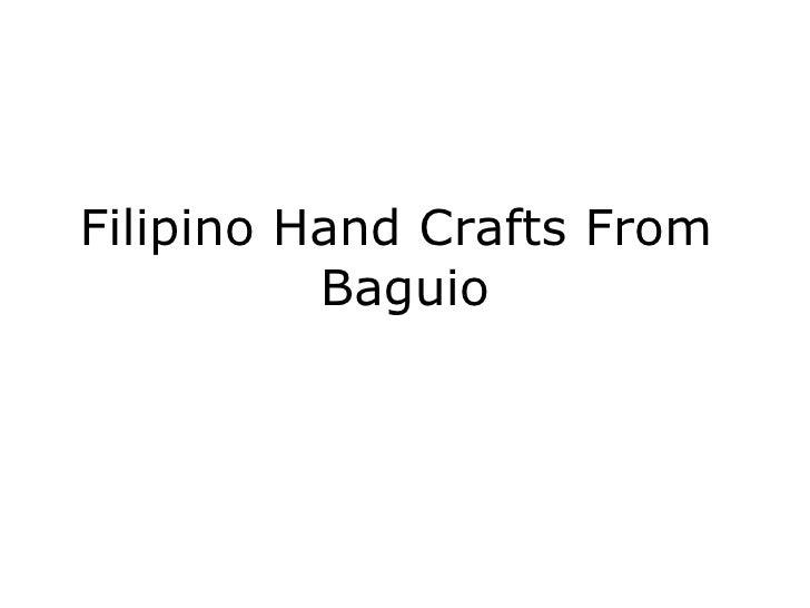 Filipino hand crafts