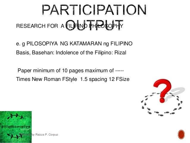 New FILIPINO PHILOSOPHY