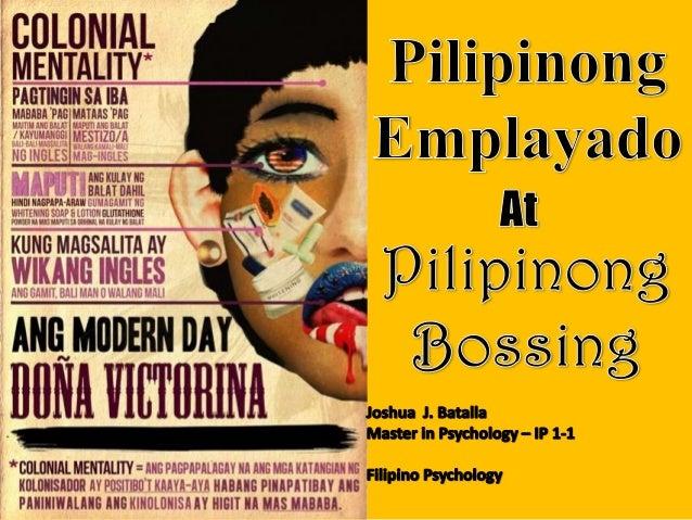 Filipino psychology - FIlipino Employees
